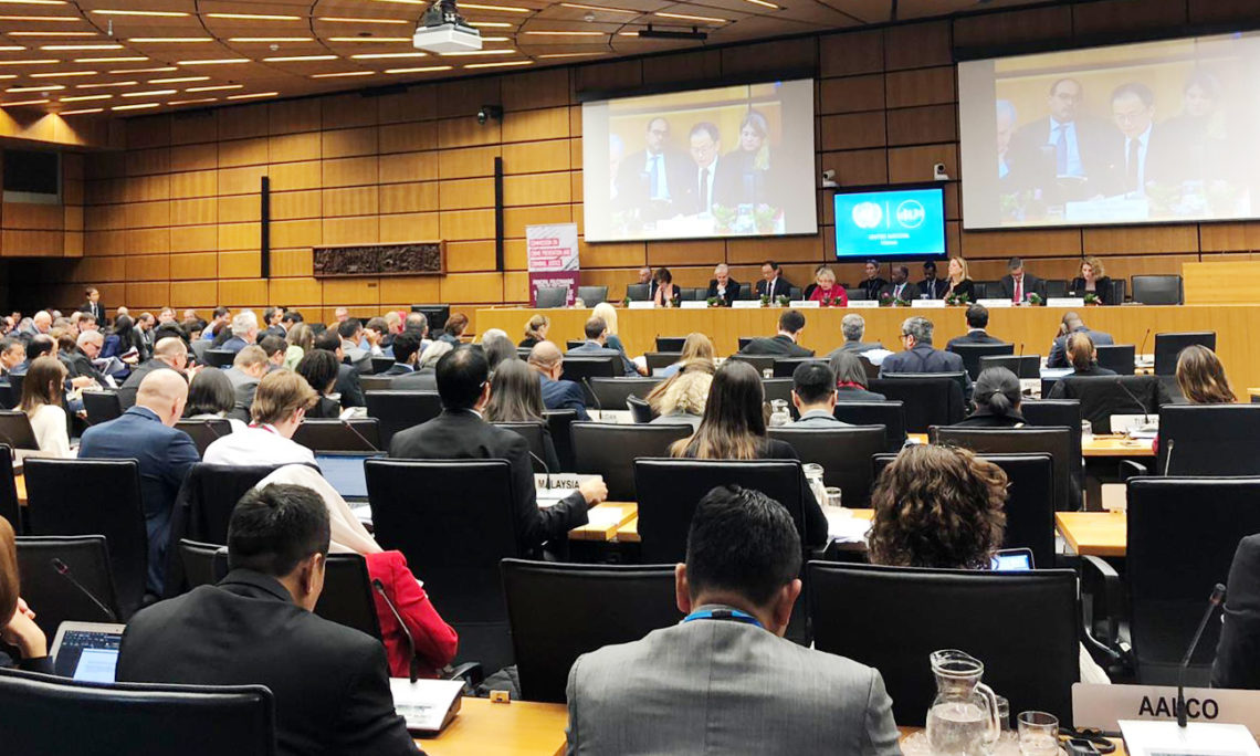 Opening of the Reconvened Sessions of the 62nd CND and 28th CCPCJ, December 12, 2019. (USUNVIE)