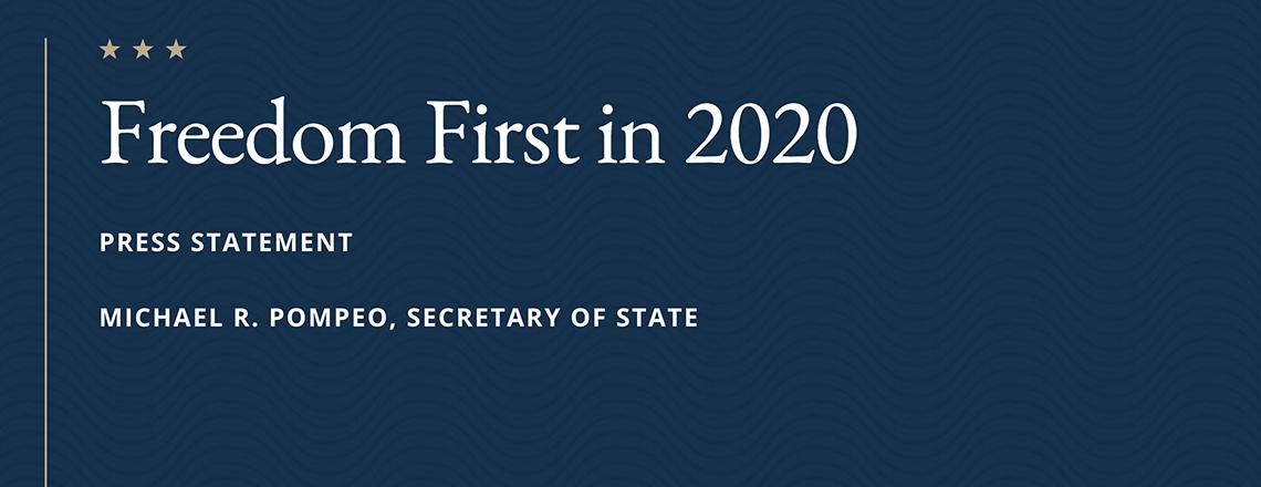 Secretary Pompeo's Statement on Human Trafficking – January 11, 2020