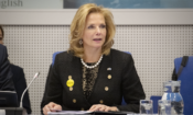 Lisa E. Gordon-Hagerty, Under Secretary of Energy for Nuclear Security and Administrator of the National Nuclear Security Administration, speaks during an ICONS 2020 side event on nuclear security.