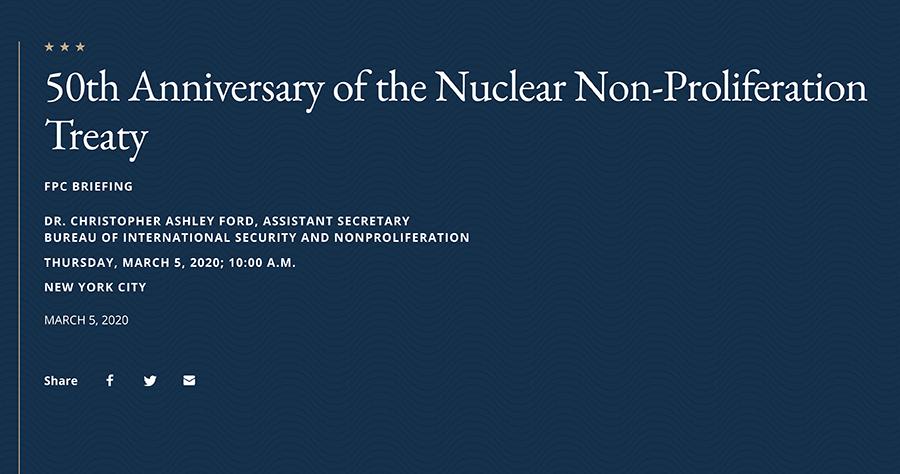 NPT 50th Anniversary Briefing - Graphic