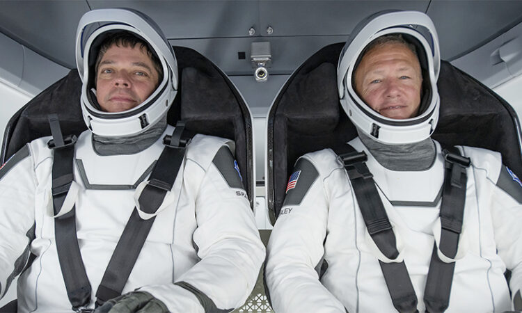 Astronauts Robert Behnken and Douglas Hurley. (NASA)