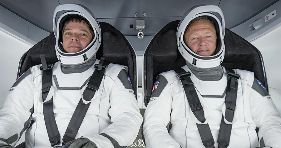 Astronauts Robert Behnken and Douglas Hurley. (NASA)