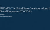 The United States continues to lead the global effort to respond to and end the COVID-19 pandemic.