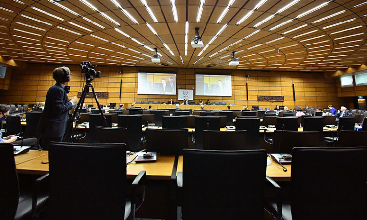 Virtual meeting of the IAEA Board of Governors, June 2020 (Dean Calma / IAEA)