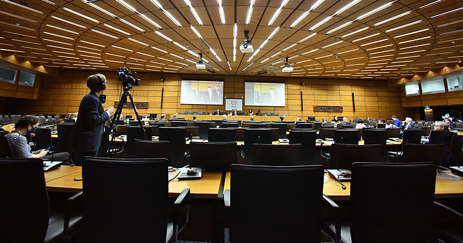 Virtual meeting of the IAEA Board of Governors, June 2020 (Dean Calma / IAEA)