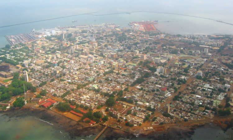Arial view of Conakry, capital and largest city of the Republic of Guinea. (Wikimedia Creative Commons)