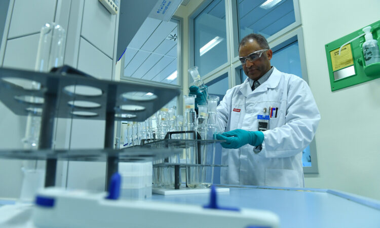 Scientist at the IAEA Radiation Monitoring Laboratory, Jan 2018. (IAEA/Dean Calma)