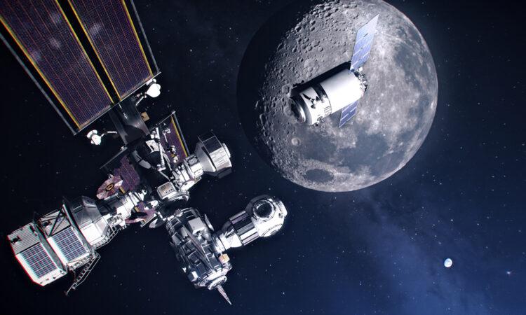 Artist's concept of the Lunar Gateway. (NASA)