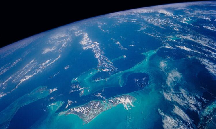 The Bahamas as seen from STS-52 in November 1992. (NASA)
