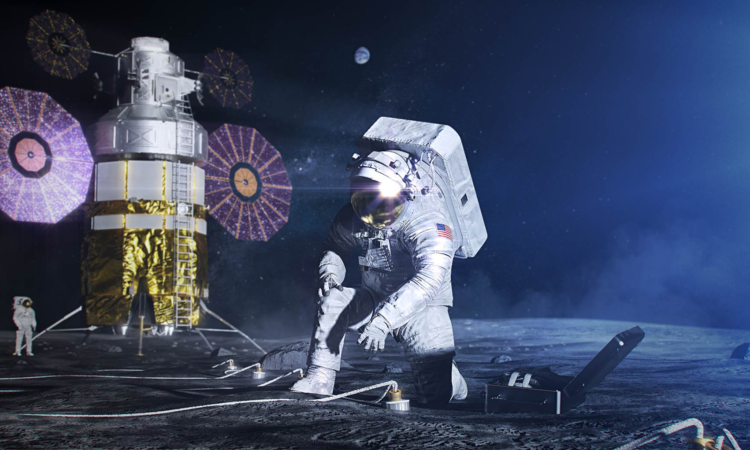 Artist's concept of the next generation spacesuit to be worn by Artemis astronauts. (NASA)