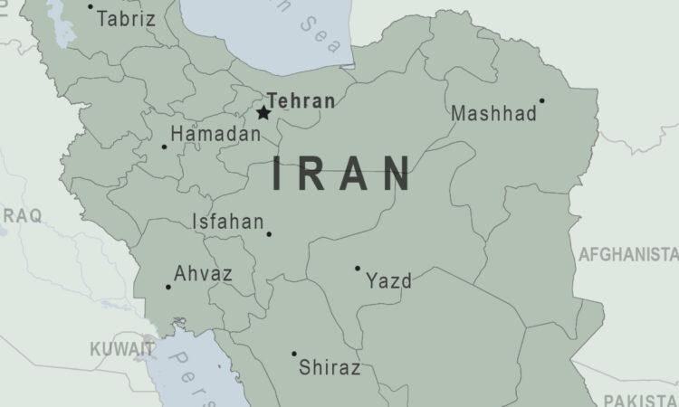 Map of Iran.
