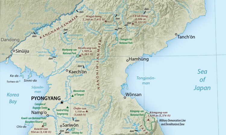 Map of DPRK.