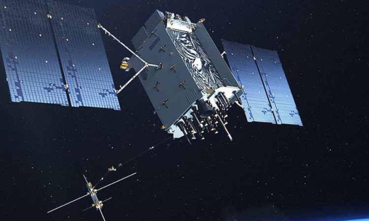 GPS III Satellite. (Courtesy graphic / U.S. Air Force)