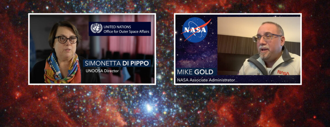 VIDEO: NASA AA Mike Gold and UNOOSA Director Simonetta Di Pippo on the MoU