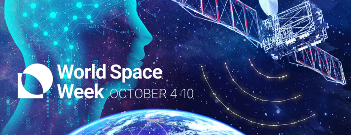 """The theme of this year's World Space Week is: """"Satellites Improve Lives"""""""