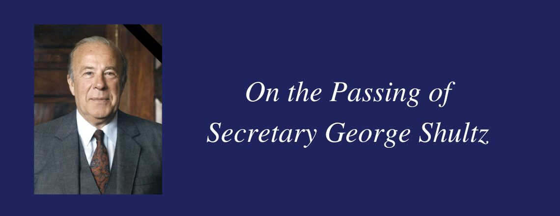 Statement by Secretary Blinken on the Death of Secretary George Shultz