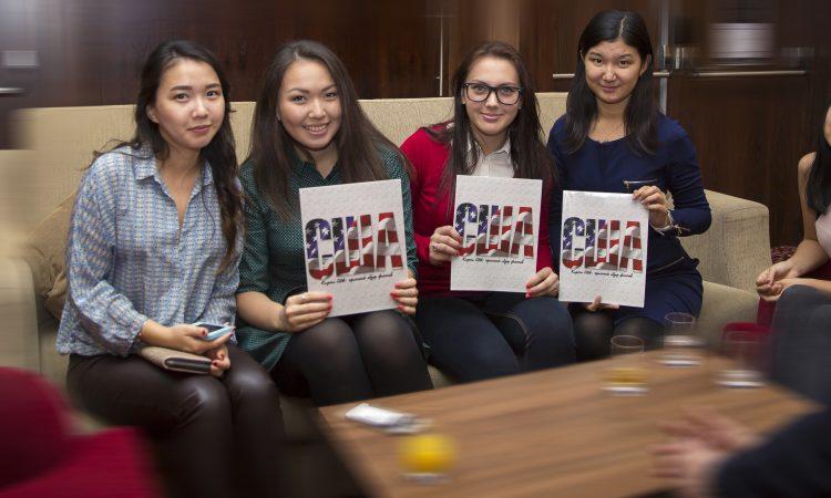 Kazakhstani Alumni are holding magazines