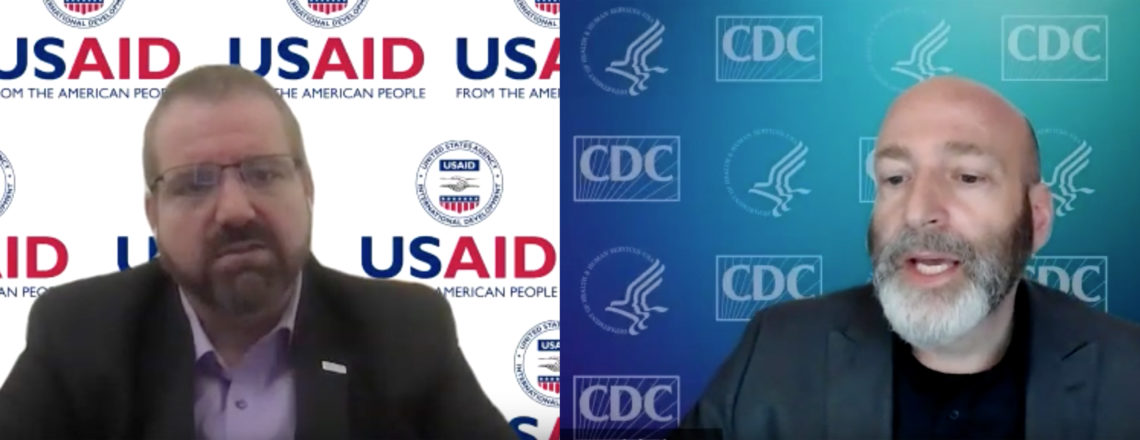Онлайн-брифинг для журналистов с Доктором Дэниелэм Сингером (CDC) и Джошуа Карнсом (USAID)