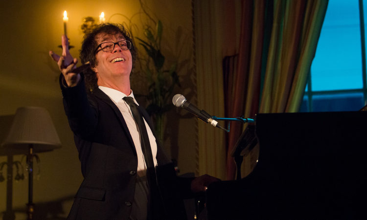 American singer songwriter and acclaimed pianist Ben Folds performed in the Ambassador's Pheonix Park residence on February 13