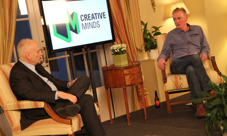 Dave Chase (left) is interviewed by RTE 2FM Broadcaster Dave Fanning for the Creative Minds Series