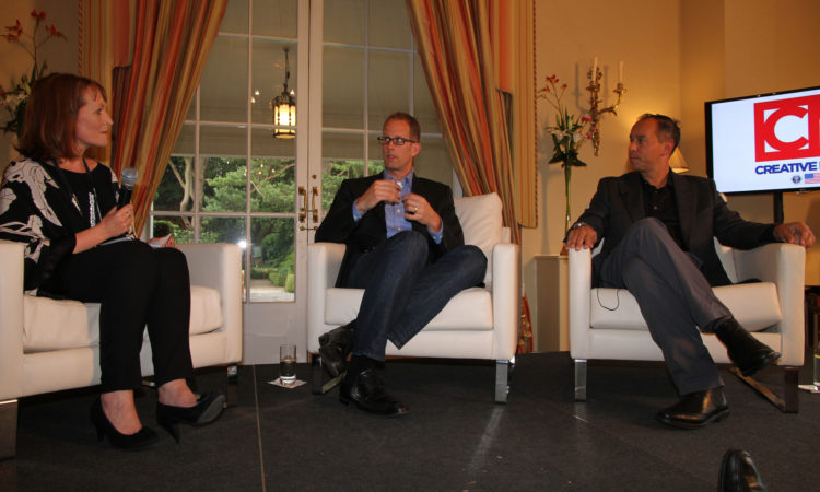 Pete Docter, the Oscar-winning director of 'Monsters, Inc.' and 'Up' and vice president, creative, at Pixar Animation Studios, and Jonas Rivera talk about their creative process at the U.S. Ambassador's Residence