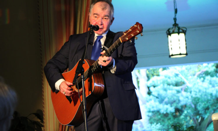 John Prine performs at the U.S. Ambassador's residence as part of the Creative Minds Series