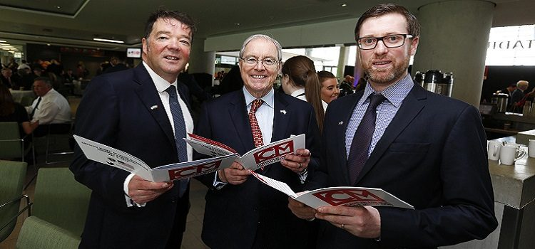U.S. Ambassador to Ireland Kevin O'Malley with attendees at the conference