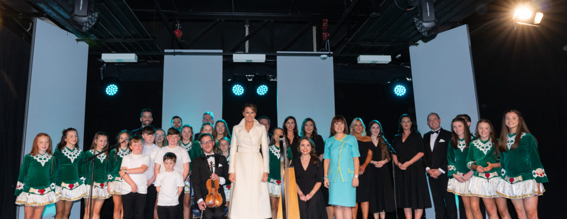 First Lady Melania Trump enjoys Irish cultural program
