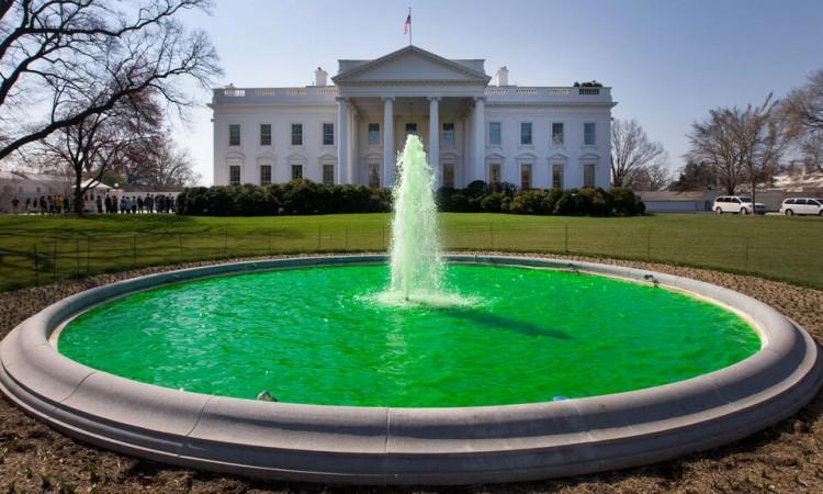 Fontaine verte à la Maison Blanche