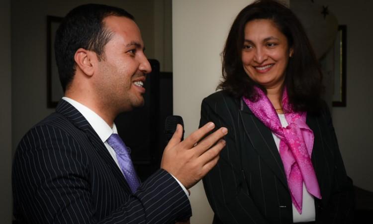 Uzra Zeya, Chef de Mission Adjointe de l'Ambassade et Abdul Rahman Wardak, représentant de l'Ambassade d'Afghanistan en France