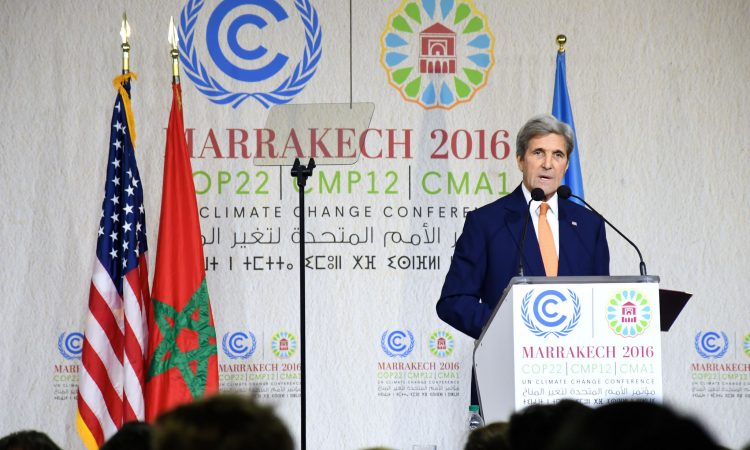 Secretary Kerry Delivers Remarks at COP22 in Marrakech (DOS photo)