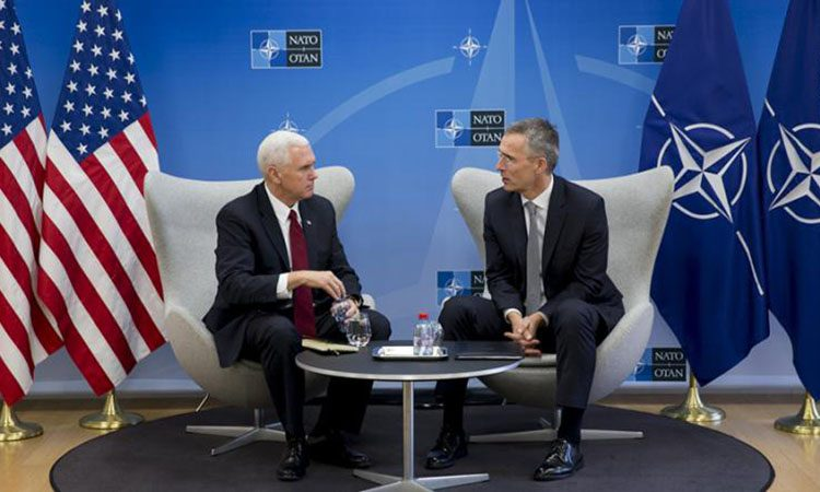 Vice President Pence Visits NATO Headquarters in Brussels
