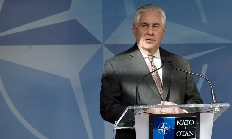 Secretary of State Rex Tillerson - Belgium NATO Defense