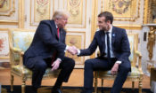 President Donald J. Trump and President Emmanuel Macron of France