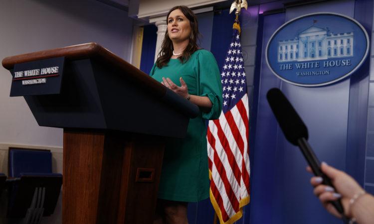 Sarah Huckabee Sanders porte-parole de la Maison Blanche