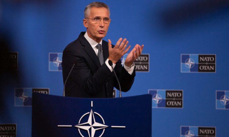 Le secrétaire général de l'OTAN Jens Stoltenberg, le 23 octobre 2019 (© Virginia Mayo/AP Images)