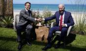 President Joe Biden and French President Emmanuel Macron