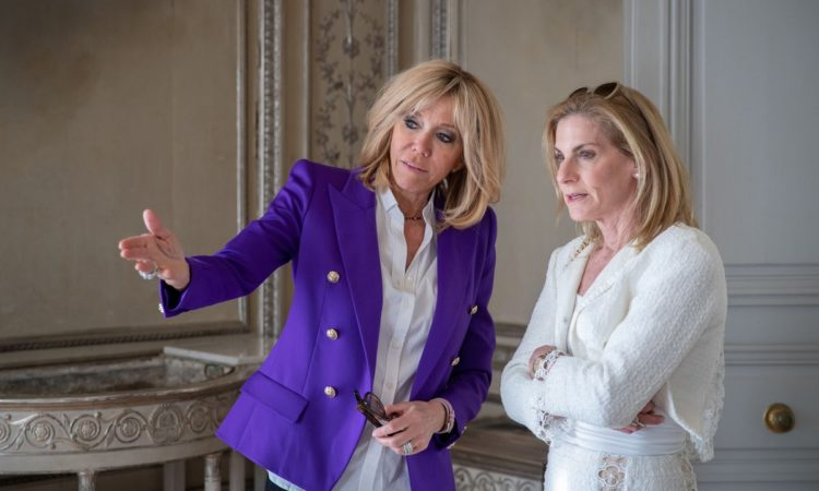 Ambassador McCourt and Brigitte Macron