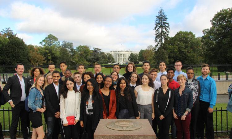 Jeunes Ambassadeurs de l'engagement associatif à Washington D.C. en octobre 2017