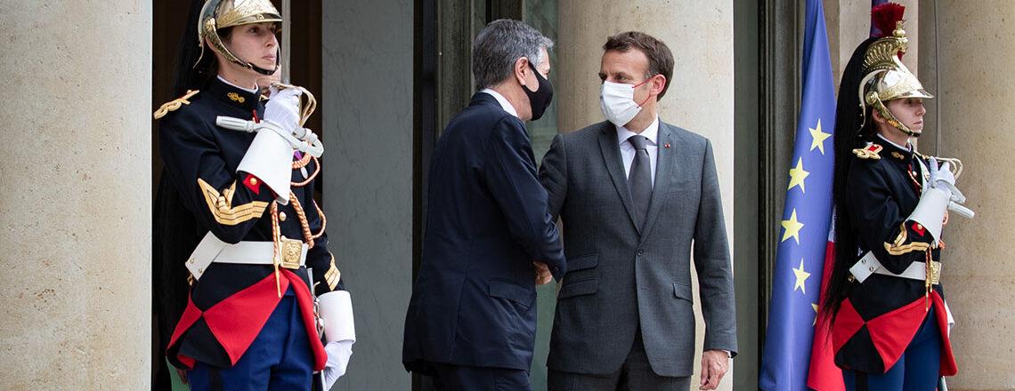 Le secrétaire Blinken avec le président français Emmanuel Macron