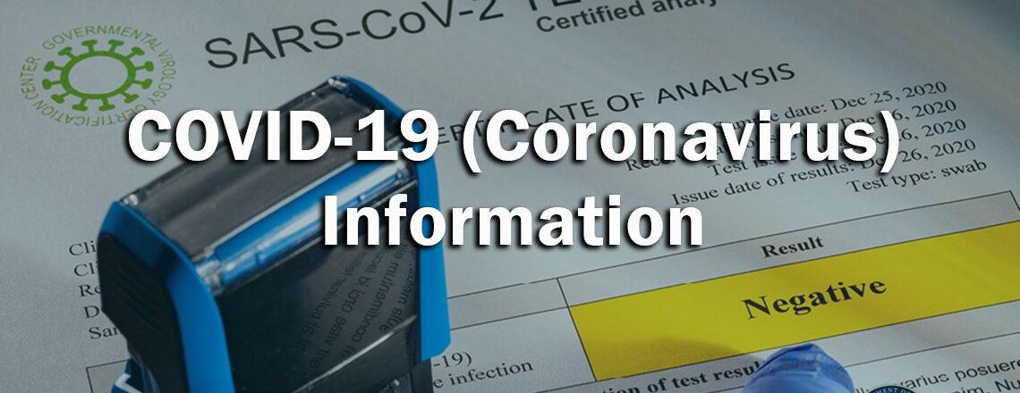 Information COVID-19 (en anglais)