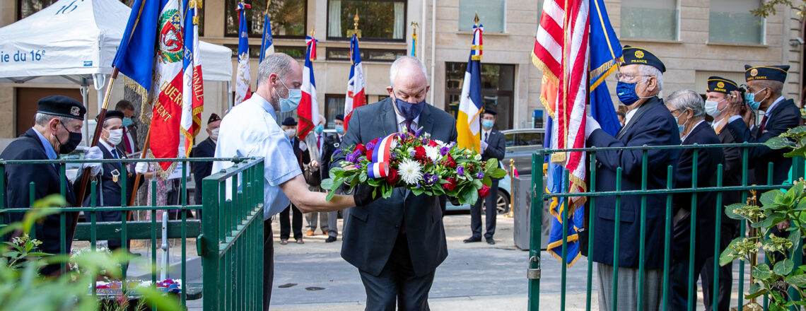 Brian Aggeler, Chargé d'affaires a.i., commemorates 9/11 attacks