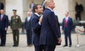 Le Président Trump et le Président Macron aux Invalides, le 13 juillet 2017.