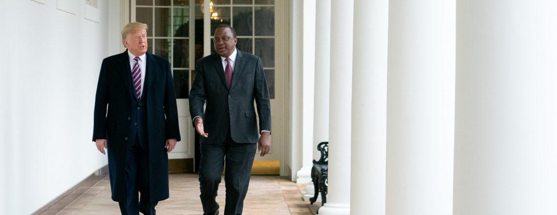 President Donald J. Trump meets with Kenya's President Uhuru Kenyatta Thursday, Feb. 6, 20