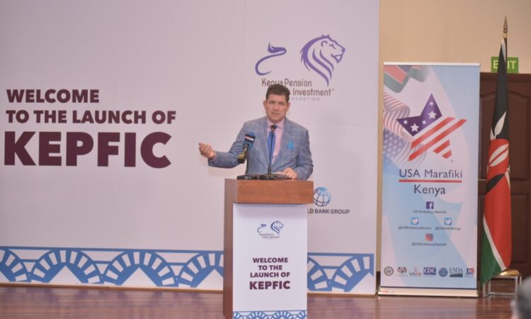 Photo 1 – U.S Ambassador to Kenya Kyle McCarter launches the Kenya Pension Fund Investment Consortium(KEPFIC).