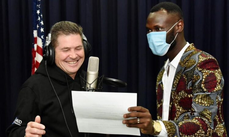 Photo 1 – U.S. Ambassador to Kenya Kyle McCarter features in a new music video for peace with Kenyan rapper King Kaka for the 16BarsforPeace hip hop campaign