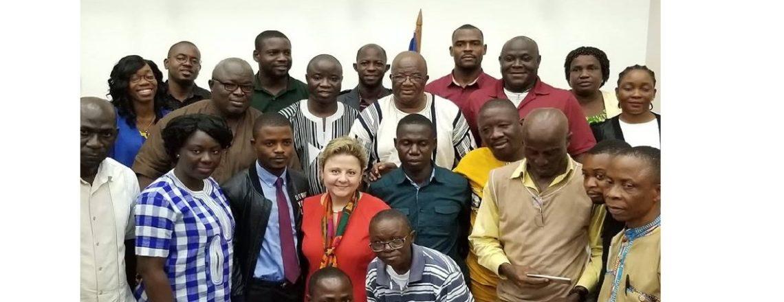 Ambassador Elder speaks about Human Trafficking to AME University Graduate School