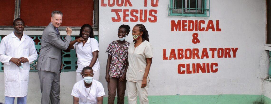 Amb McCarthy Visits Self-Help Grantee Look to Jesus Medical Clinic