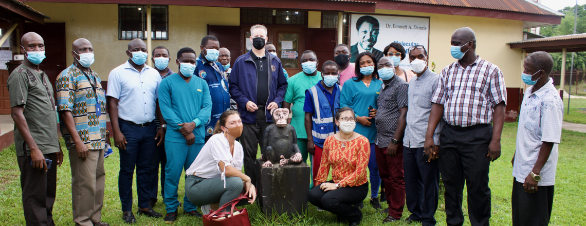Amb McCarthy Visits NPHIL Complex and Liberia Chimp Rescue and Protection