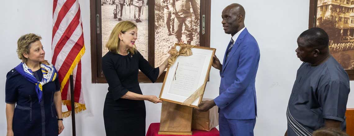 Assistant Secretary Royce Commemorates Historic Ties at National Museum of Liberia